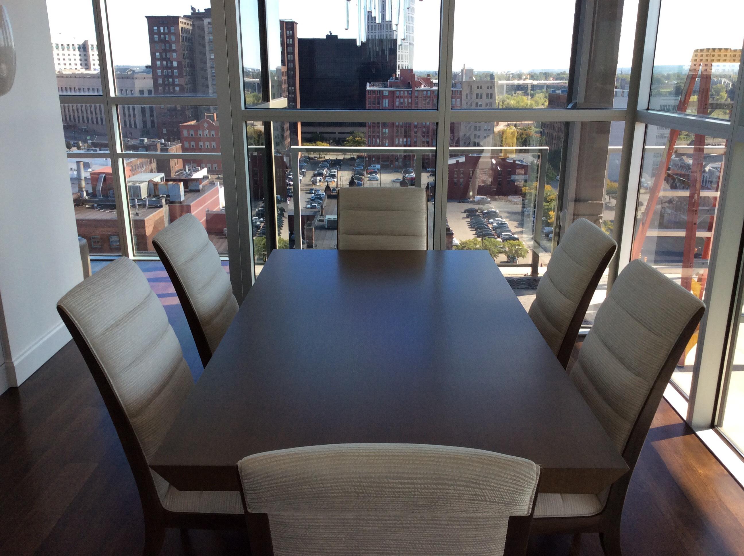 Custom Made Dining Table Quartered White Oak Gomillion Furniture Services Inc