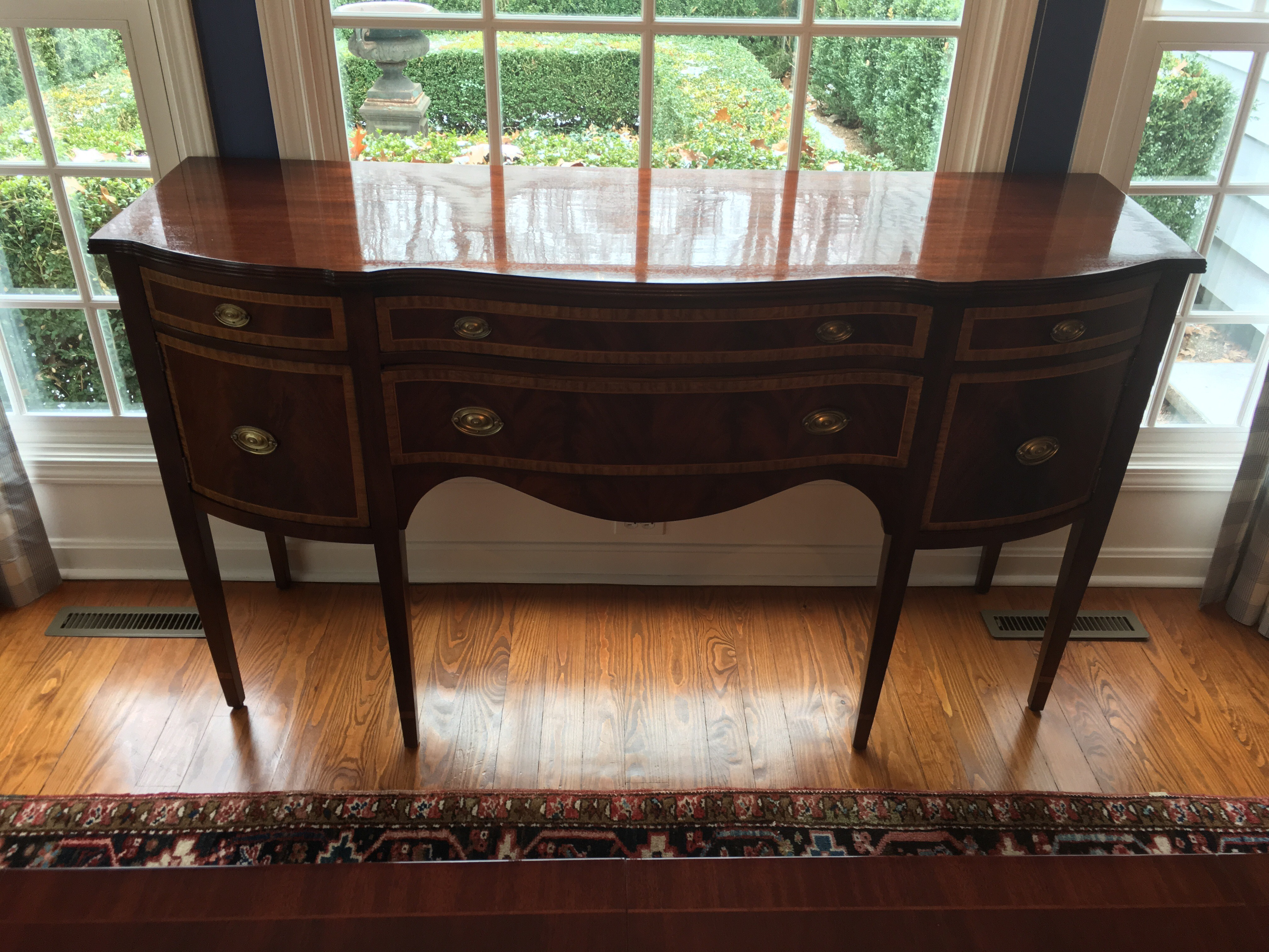 Hand Stripped Refinished Dining Buffet. After. Refinished Antique Dining  Room Buffet