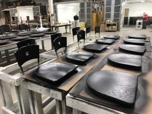 Refinishing Table Tops & Chairs for Restaurant